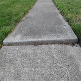 heaved concrete